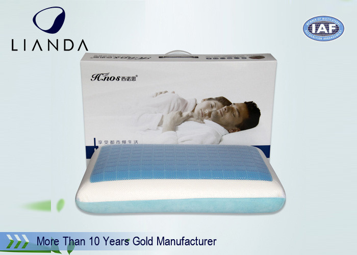 Traveling Folding Cooling Gel Pillow With Mesh And Inner Cover