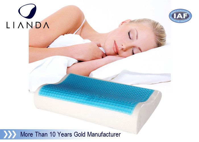 Wave shape Cooling gel memory foam pillow / adult king size cool gel pillow
