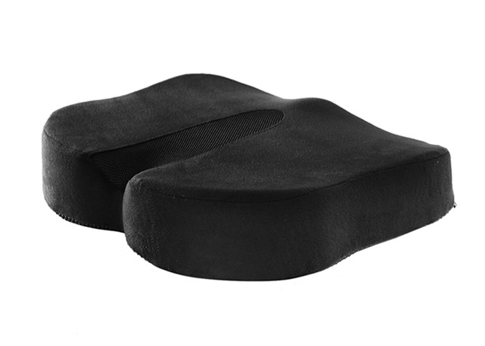 Comfort Coccyx Butterfly black memory foam seat cushion for Wheelchair Sofa , Patent Logo