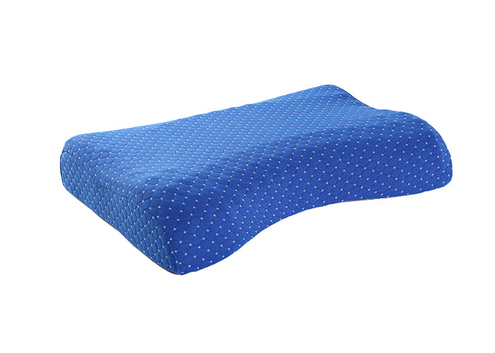 Blue Color Comfortable Aloe Vera Soft Memory Foam Massage Pillow With Pillow Case