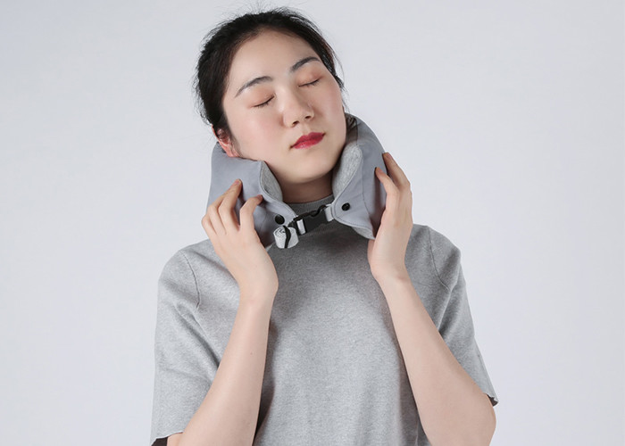 50D Density Travel Neck Pillow Adjustable Slow Recovery Shredded PU Memory Foam